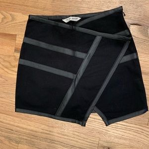 4th and Bleeker for Billabong leather trim skirt